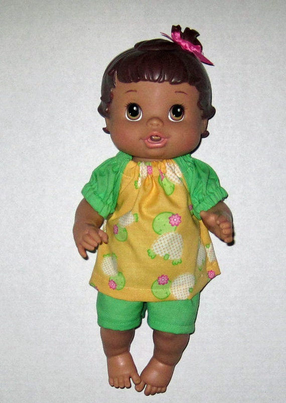 Baby Alive Doll Clothes Girl Turtles Rule Summer Short Set