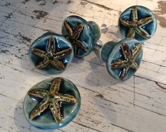 Starfish Drawer Pull and Cabinet Knob - Coastal Decor
