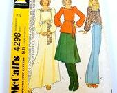 70s Maxi Dress Pattern Blouse Easy UNCUT Vintage Sewing McCalls 4298 Women Size 18 Bust 40