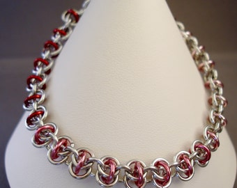 Pretty in Pink Chainmaille Bracelet