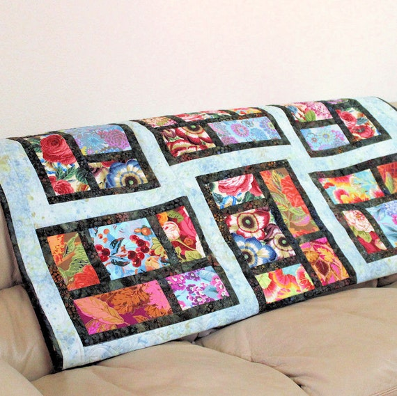 Philip Jacobs Modern Lap Quilt - View From My Window Sofa Throw, Kaffe Fassett