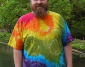 Rainbow Spots N Dots Tie Dye T-Shirt (Made By Hippies Tie Dye In Stock  in Sizes Small to 4XL) (Fruit of the Loom)