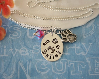 Personalized Pet Necklace, Charm Necklace Personalized, My Dog Necklace