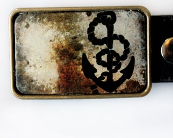 Nautical Belt Buckle Anchor