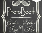 INSTANT DOWNLOAD. Printable PDF. Photo Booth Sign. Photo Booth Prop. Photobooth Prop. Photo Booth.Chalkboard Sign, Wedding Reception. Chalk