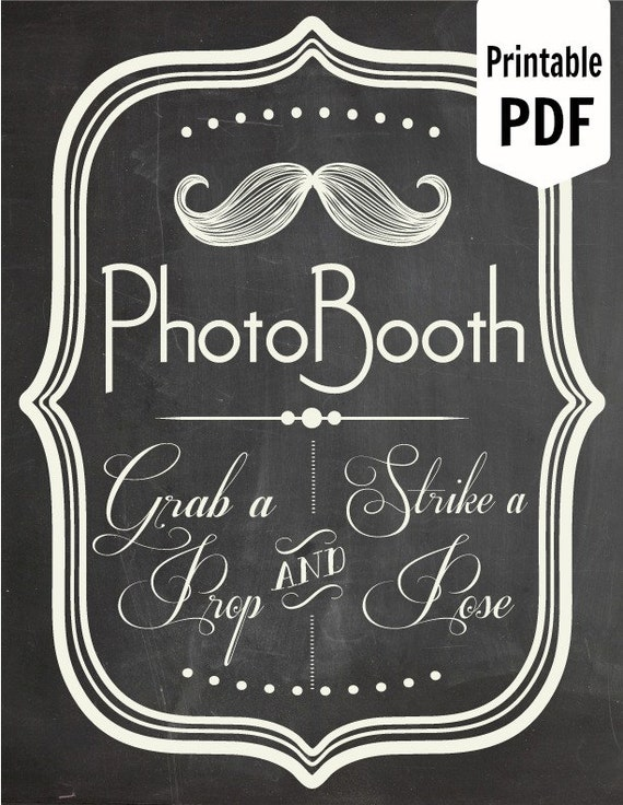 Universal image inside photo booth props printable