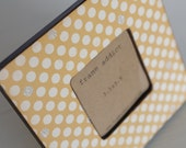 Yellow and White Polka Dot Picture Frame