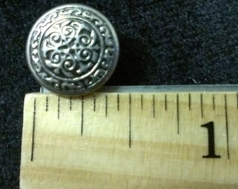 Medieval Button - Shanked  3 sizes 3 color-  your Choice - Set of 6.