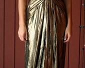 Vintage Lillie Rubin Gold Evening Gown