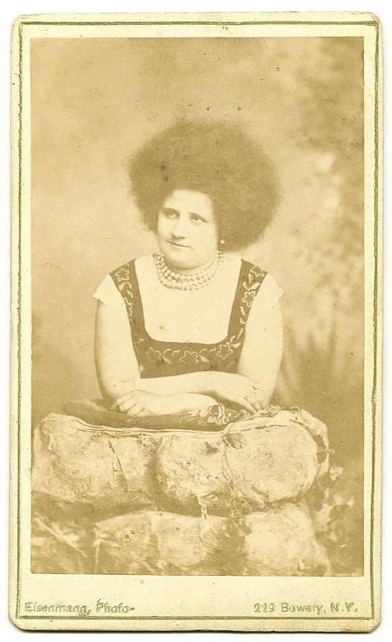 Vintage Sideshow Circassian Girl CDV