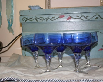 Set of Blue Stemwear