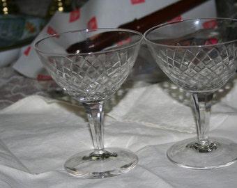 Vintage Diamond Cut Glasses