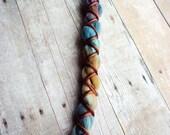 1 Single Vegan Nylon X-Cross Wrapped Tie-Dye Synthetic Dreadlock *Clip-in Extension Boho Dread Hair Wrap