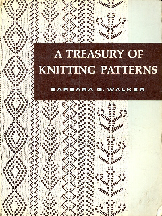 Treasury of Knitting Patterns Stitches Barbara Walker Vintage