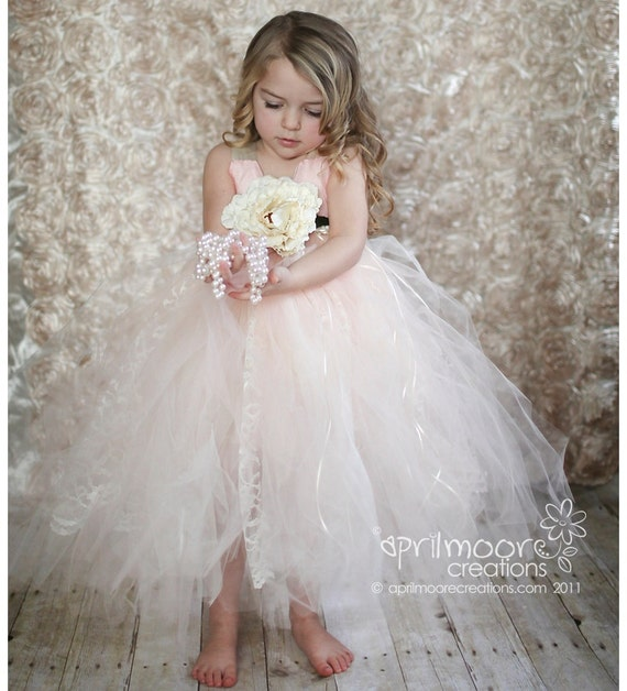 Items similar to Tulle Flower Girl Dress - sizes 6 - 9 ...