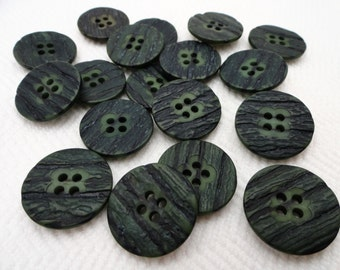 Bark Vintage Buttons - 6 Mid Century Coat Buttons 22mm 7/8 inch or 1 1/8 inch for Blazer Jewelry Beads Sewing Knitting