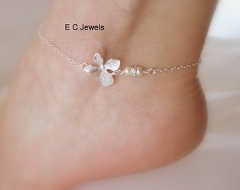 Simplicity Orchid Anklet - Pick your Color
