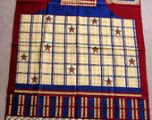 new fabric panel DEBBIE MUMM apron USA flag patriotic americana quilt quilting red white blue cotton stars stripes