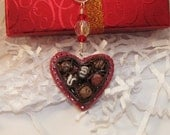 Valentine's Day Box of Chocolates Necklace - Miniature food jewelry ready to ship