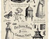 Jane Austen's Garden rubber stamp collection