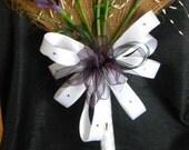 Wedding Broom with Purple Calla Lilies and Purple/White/Black Accents, Purple Jumping Broom, Decorative Broom, Jump Broom, Ceremony Broom,