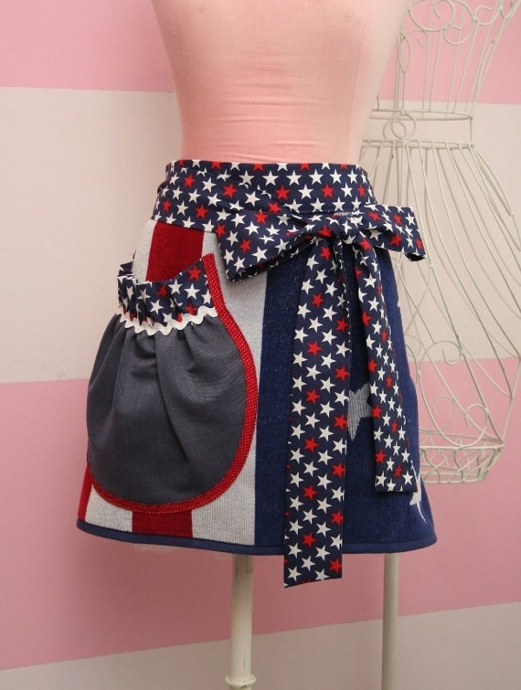 American Flag Towel Apron - Red, White and Blue Towel Apron