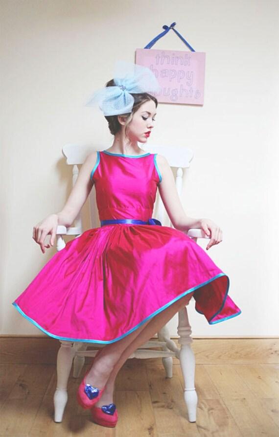 Betty - Silk Full Skirt Cocktail Dress - MADE TO ORDER