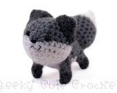 Gray Fox Amigurumi Crochet Plush Toy