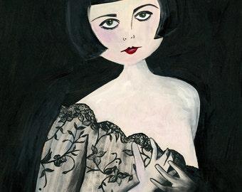 Marion // ziegfeld follies star 1920s flapper art print