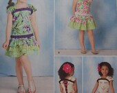 REDUCED - Childs Top & Skirt - Simplicity 1627a Pattern - Size A - 3 thru 8