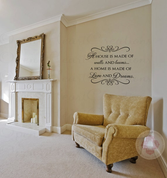 Foyer Room Quotes : Family wall quotes a house is made with and beams