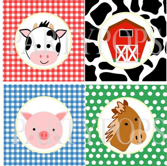 Digital Farm Party Printable Farm Birthday Party Banner Add