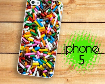 iPhone 5S Candy Sprinkles iPhone 5S Case | iPhone 5 Kawaii Candy  | Plastic or Rubber Case for iPhone 5 5S