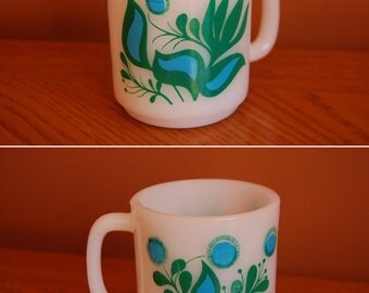 Retro Glasbake Milk Glass '60s Mug