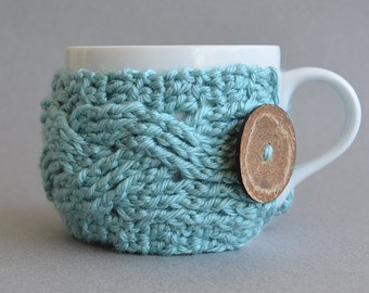 Crochet Pattern, Crochet Cup Cozy Pattern, Crochet Pattern Decor Crochet Mug Cozy Crochet Coffee Cozy Crochet Coffee Sleeve Crochet Tea Cozy