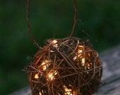 Rustic Candles Firefly Lightning Bug Lanterns With Moss Flower Girl Basket Alternative (Item Number 140032)