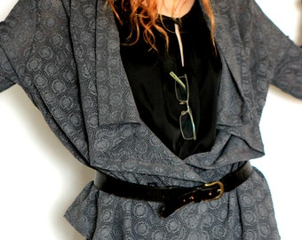 Sale Women Top Grey Cardigan Lace Long Sleeves Wrap Comfy Rommy Jacket