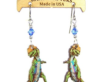 T REX DINOSOUR EARRINGS