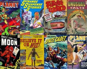 DVD Science Fiction SPACE COMICS (Vol 2) Golden Age Planet Tom Corbett Sci Fi Dell Harvey