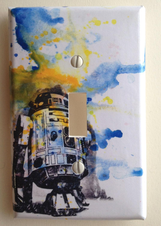 R2d2 Star Wars Art Room Decor Decorative Light Switch Plate