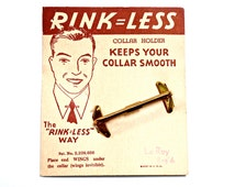 40s 50s Collar Bar - NOS - Rink-Less - For The Dapper Gent