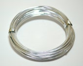 Silver Aluminum Wire 18 gauge 4 yards 12 feet malleable jewelry stringing wire