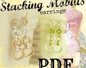 Stacking Mobius Earrings PDF - Basic Instructions - Expert Tutorial