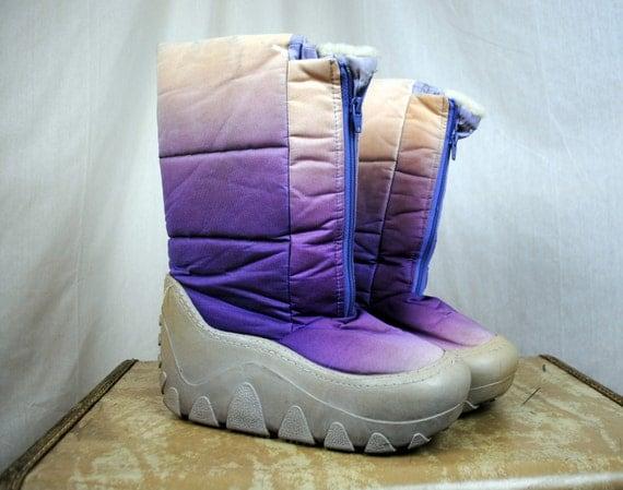 Vintage 80s Rainbow Moon Boots Size Women S 7 8