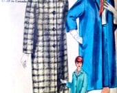 Vintage 60s Straight Coat and Skirt, Vogue 5209 Sewing Pattern, Bust 38, Size 18