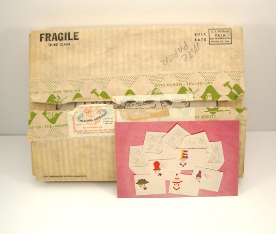 Vintage 1960s fad of the month club hi hats notecards craft for Craft of the month club