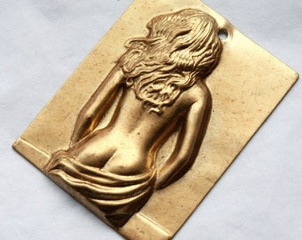 2 Large Vintage Brass Artist's Model Stampings