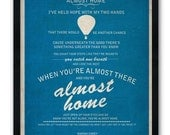 Almost Home / Mariah Carey / Lyric / DIGITAL Typography Poster / Printable