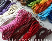 Last - 24 Yards / 24 Color - Braided Leather Strap / Cord (LB003)- Clearance Sale