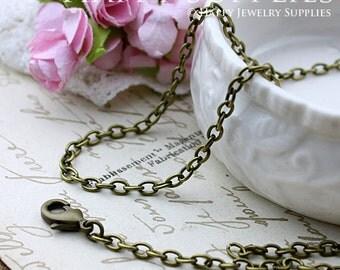 10pcs Antique Bronze Long Chain Necklace (AD01)